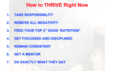 HOW TO THRIVE RIGHT NOW